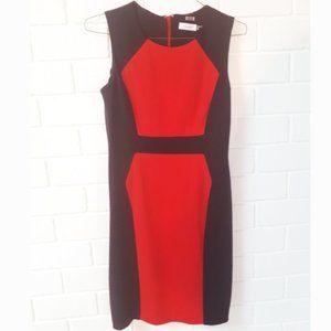 EUC Calvin Klein Colourblock Wiggle Pencil Dress